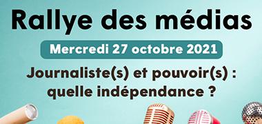 Rallye des Médias – mercredi 27/10